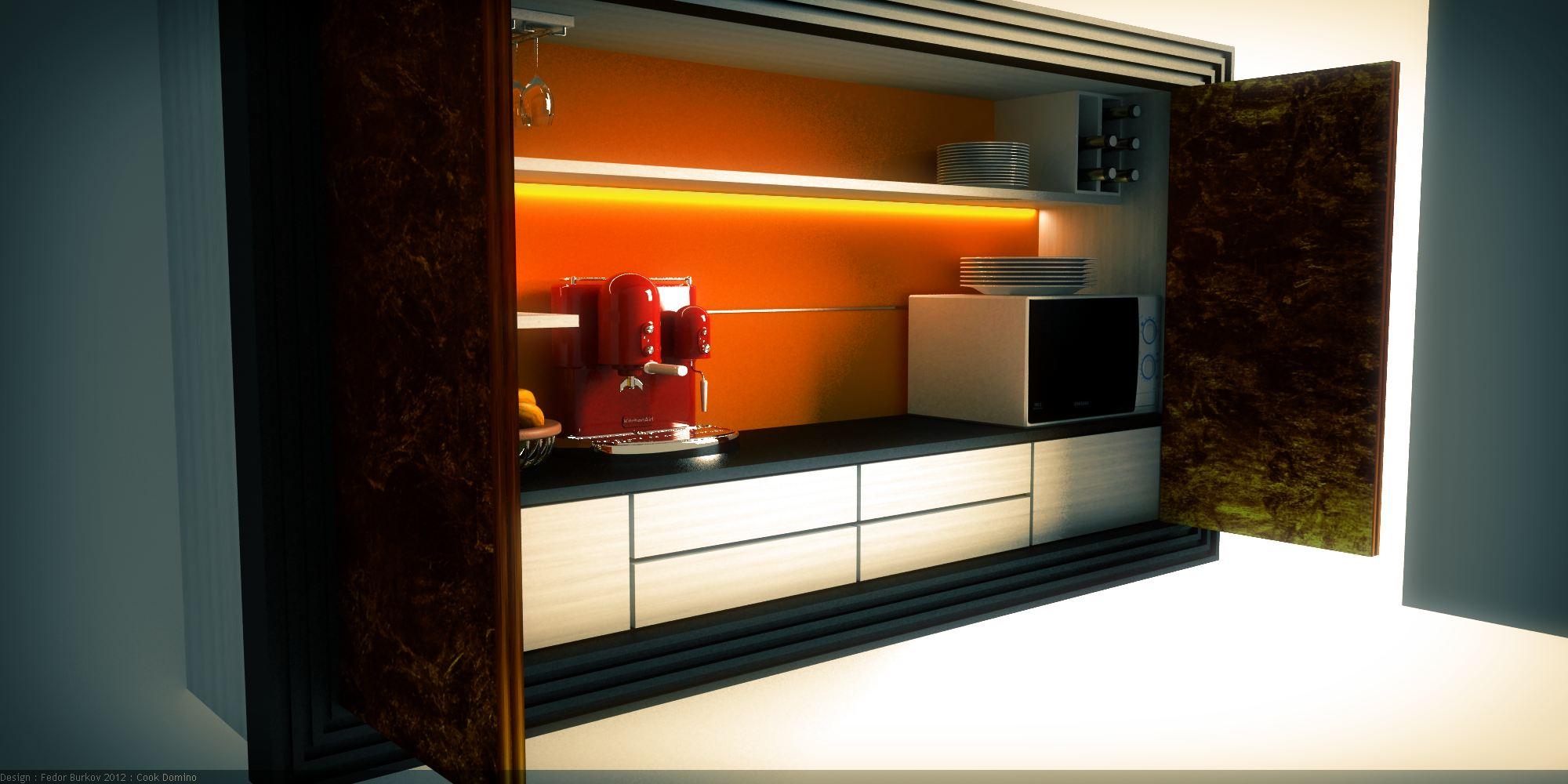 Скрытая на кухне 4 фотография