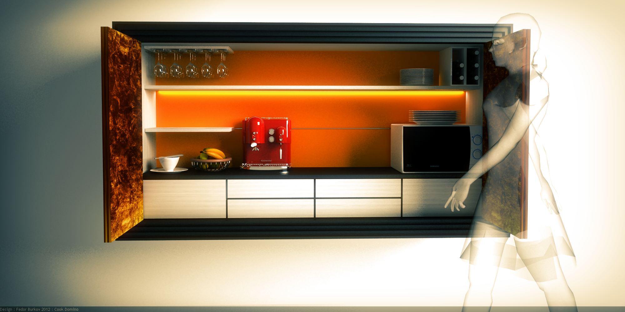 Скрытая на кухне 6 фотография