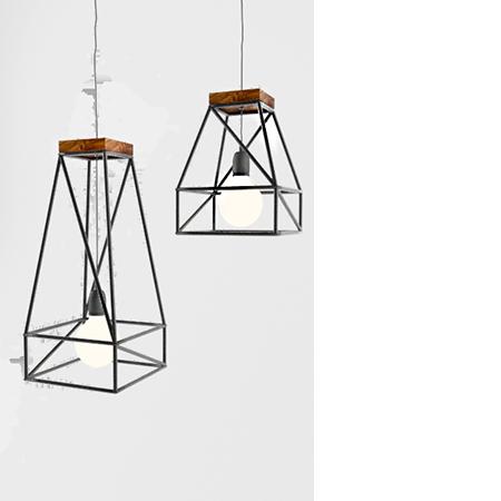 Люстра в лофт стиле