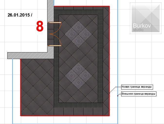 Вариант раскладки плитки 3