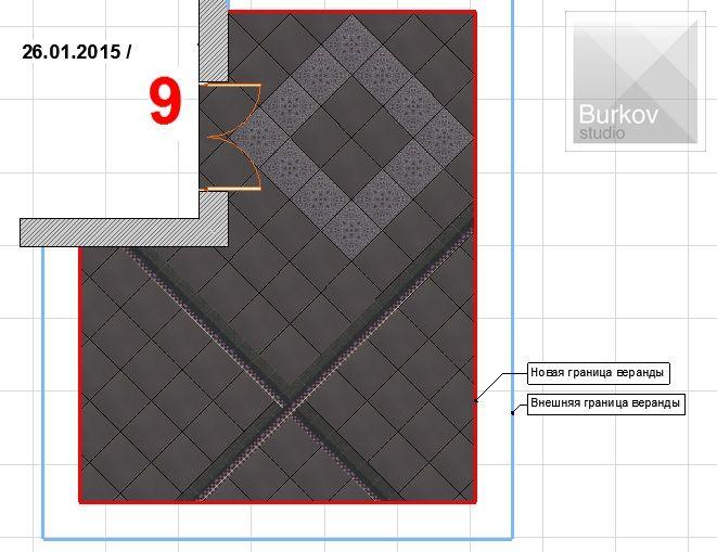 Вариант раскладки плитки 4