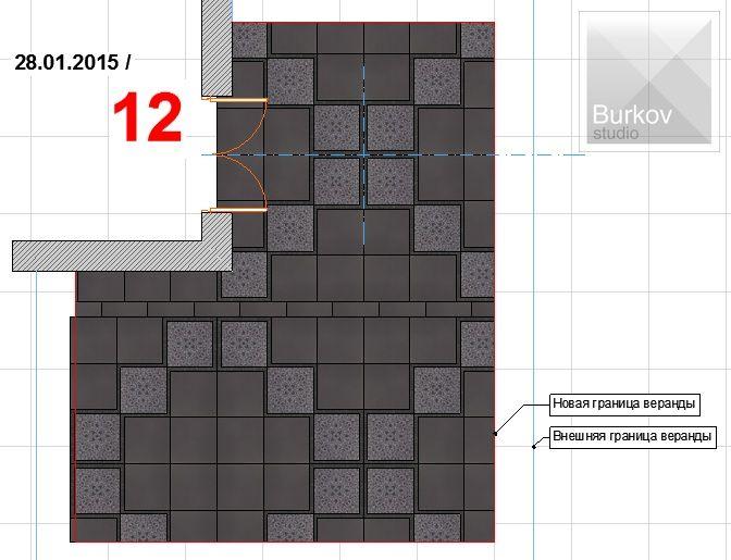 Вариант раскладки плитки 7
