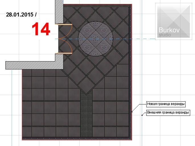 Вариант раскладки плитки 9