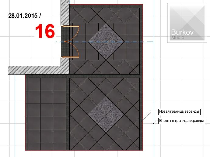 Вариант раскладки плитки 11