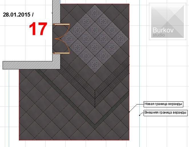 Вариант раскладки плитки 12