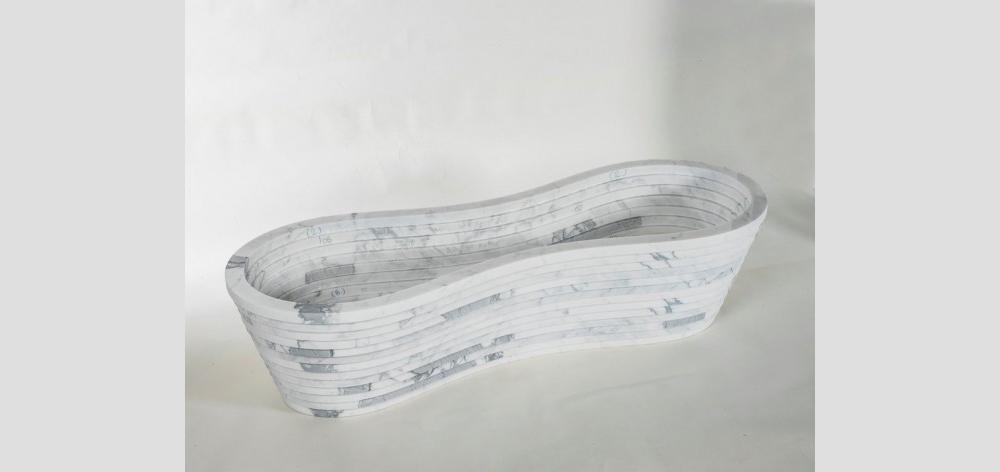 устройство лавки из мрамора Paolo Ulian