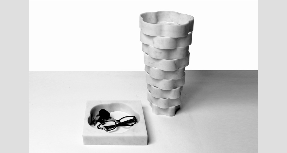 Дизайнерские предметы из мрамора - ваза