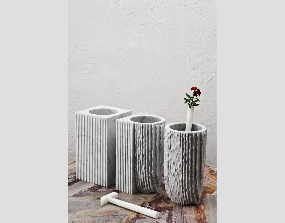 Набор ваз из мрамора Paolo Ulian