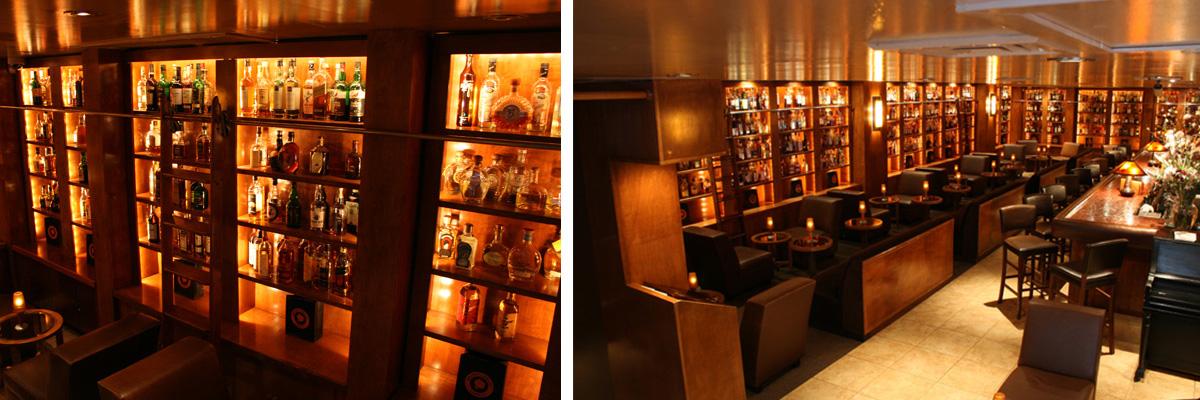 Дизайн интерьера бара The Brandy library