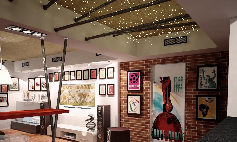 Дизайн комнаты отдыха с подбором материала
