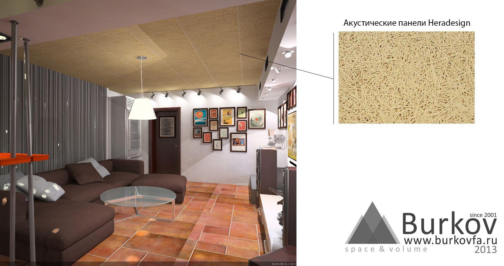 Акустические панели Heradesign в интерьере комнаты
