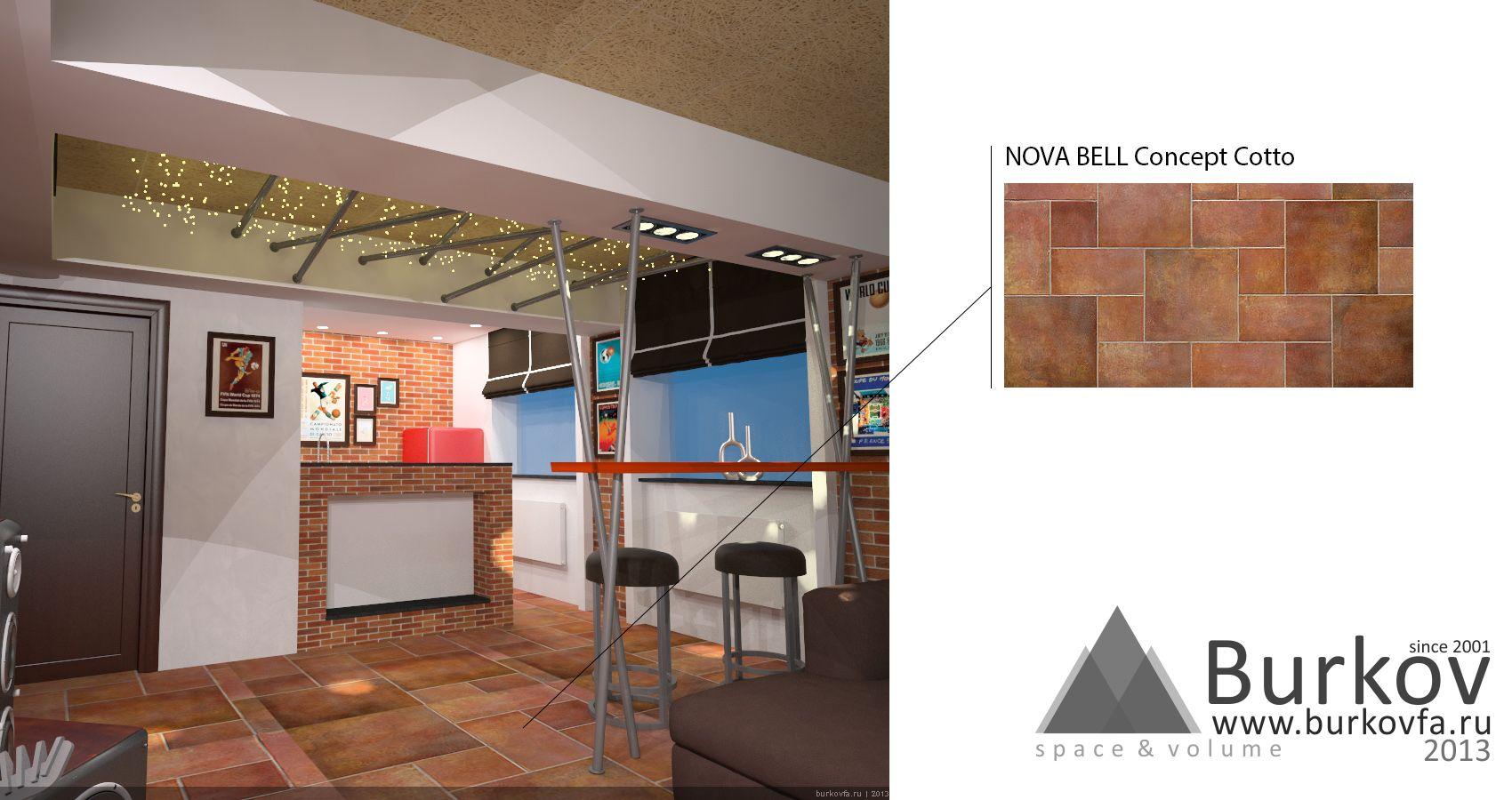 NOVA BELL Concept Cotto в интерьере комнаты