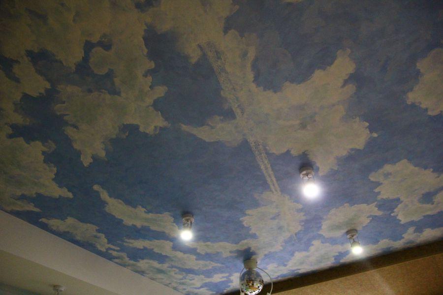 оформление потолка детской комнаты