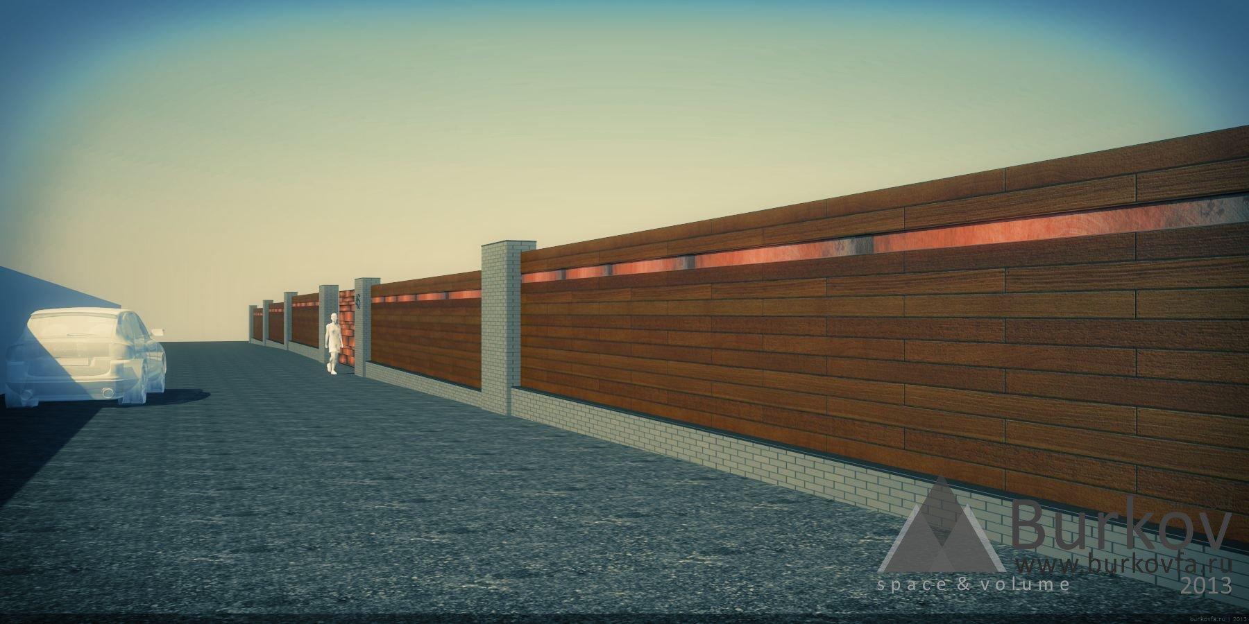 Забор из декинга и клинкера