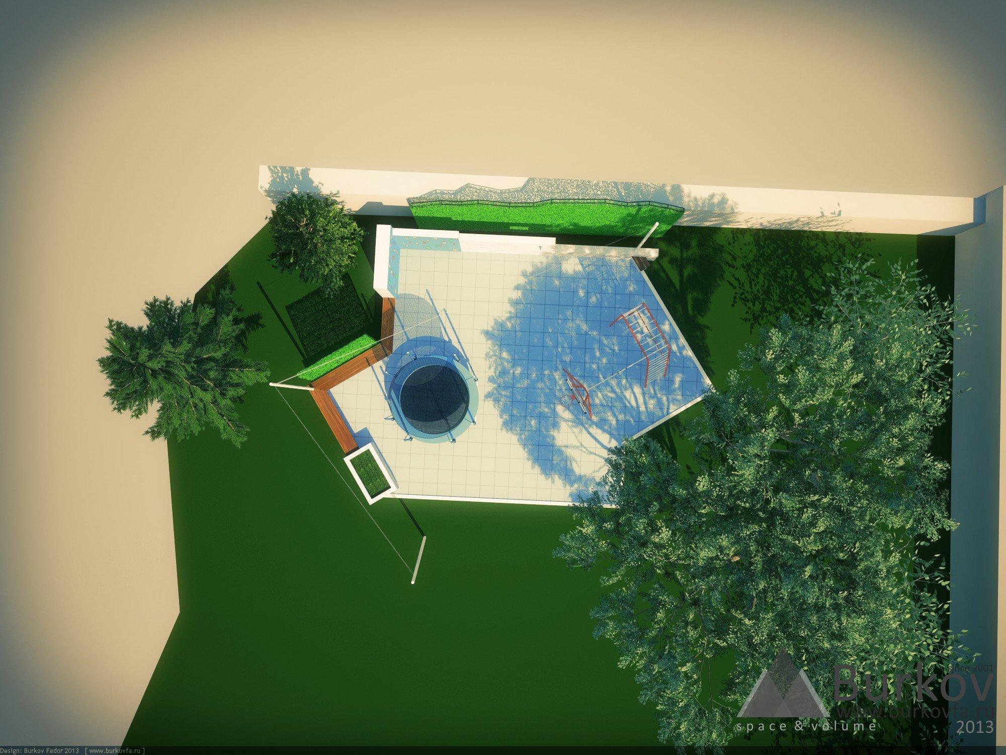 дизайн спортивной площадки