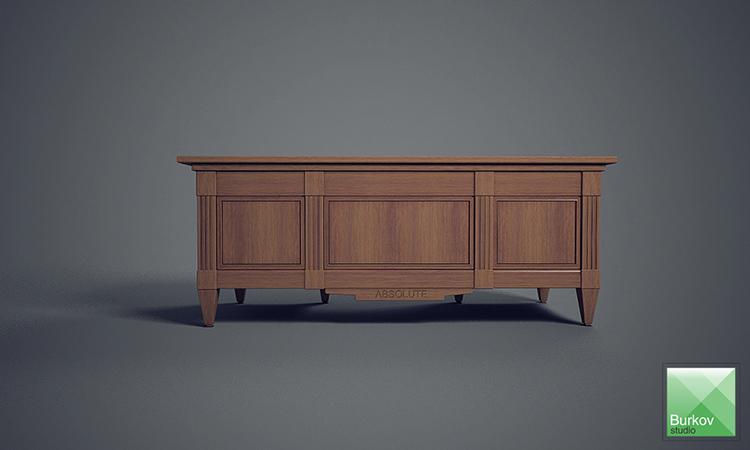 Стол для кабинета индивидуального дизайна