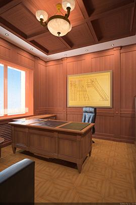 дизайн-проект классического кабинета