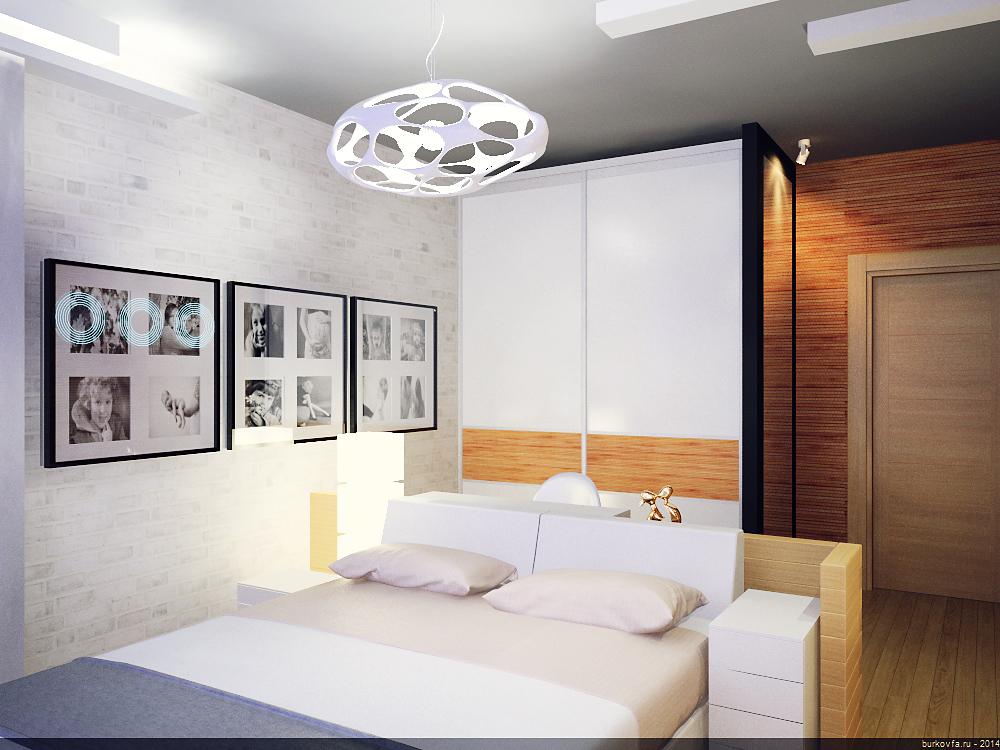 Дизайн-проект спальни в лофт-интерьере