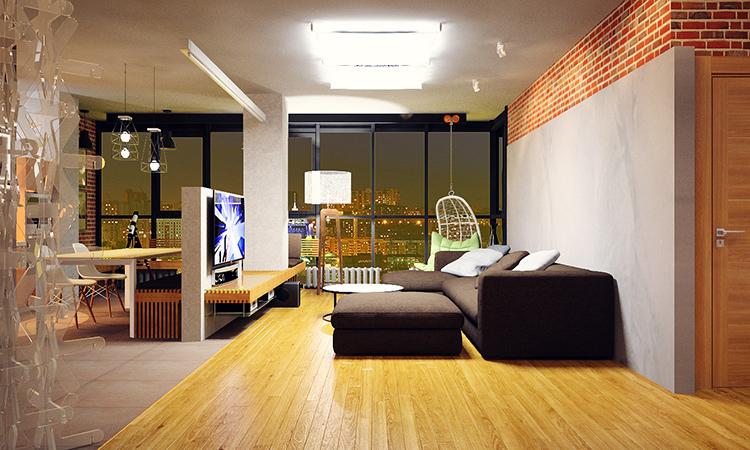дизайн-проект квартиры в Лофт стиле