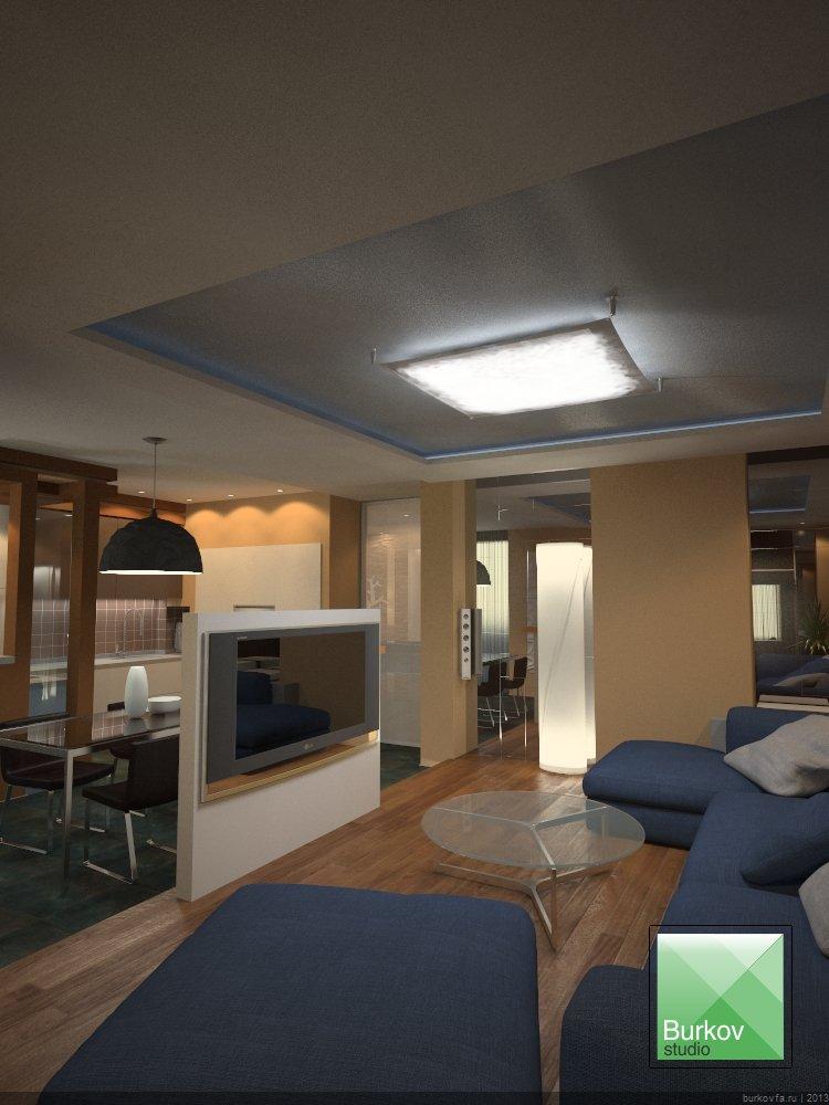 Дизайн квартиры студии в центре