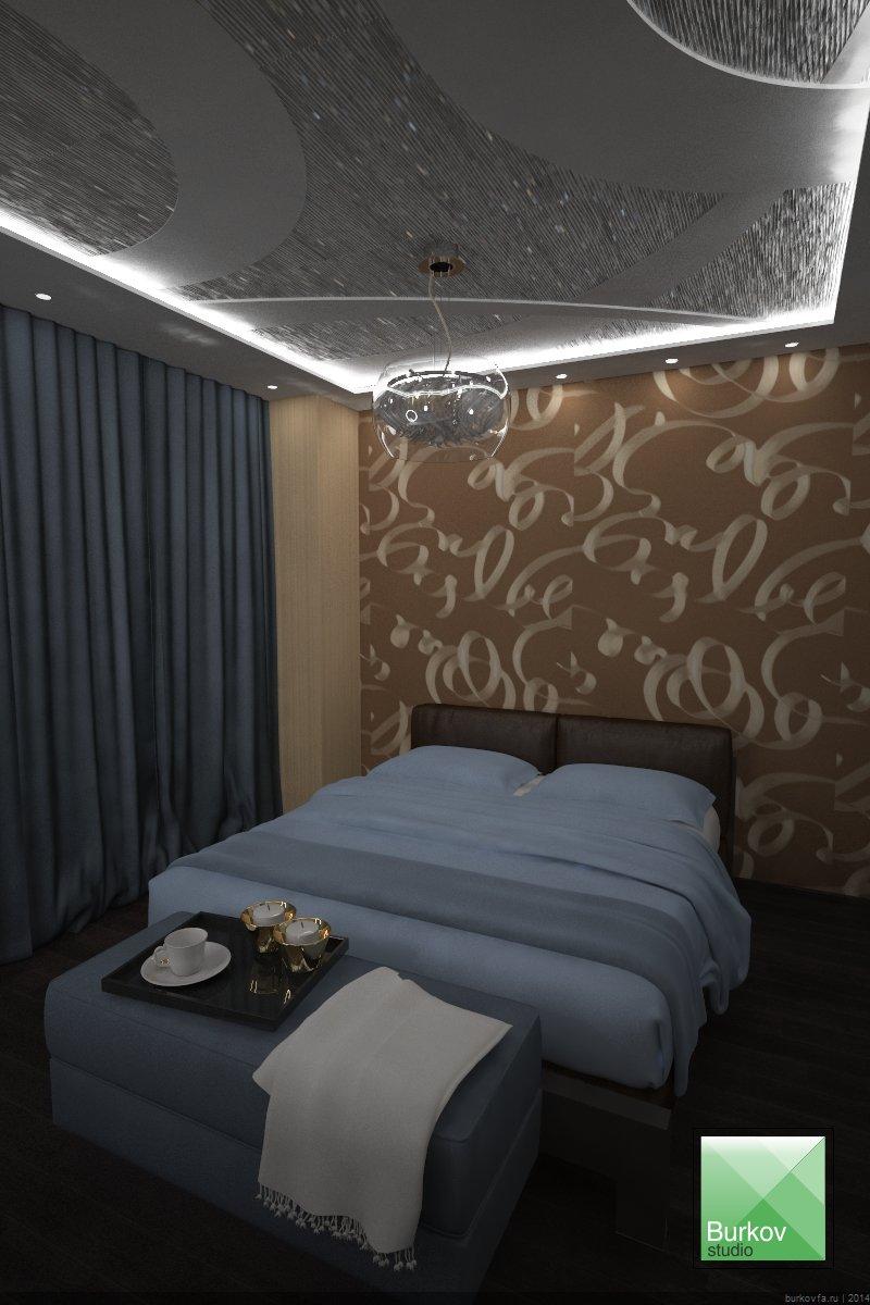 дизайн-проект квартиры в центре. Спальня