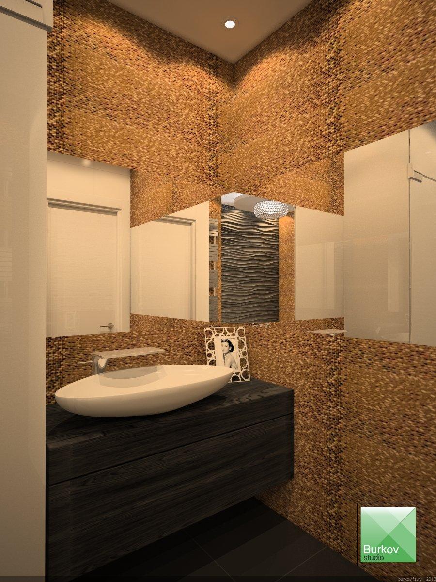 круглая ванная в интерьере