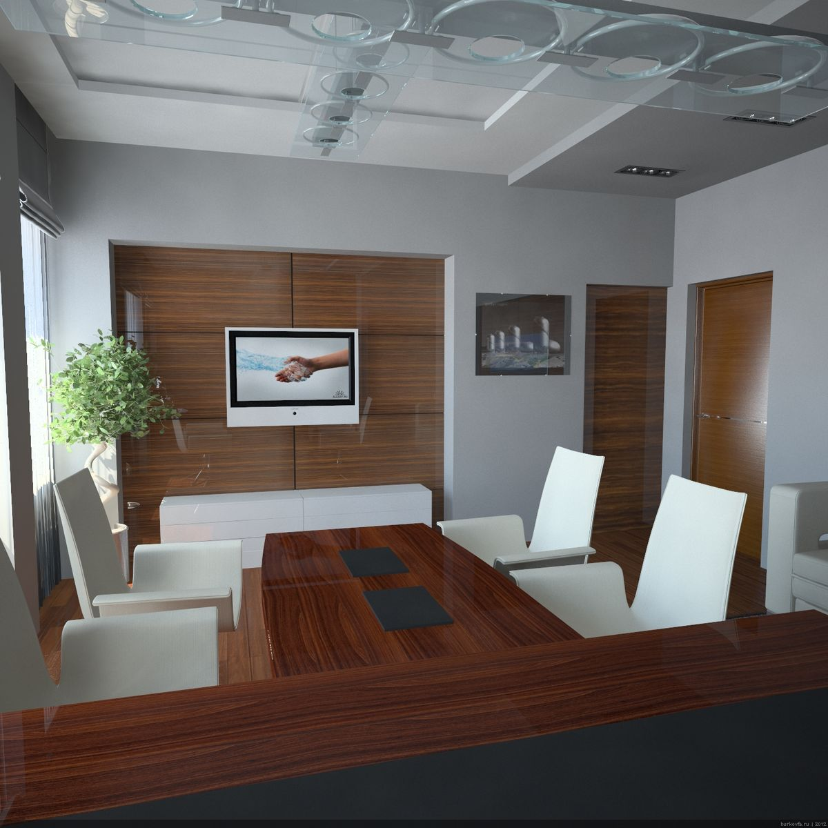 Проект интерьера кабинета руководителя
