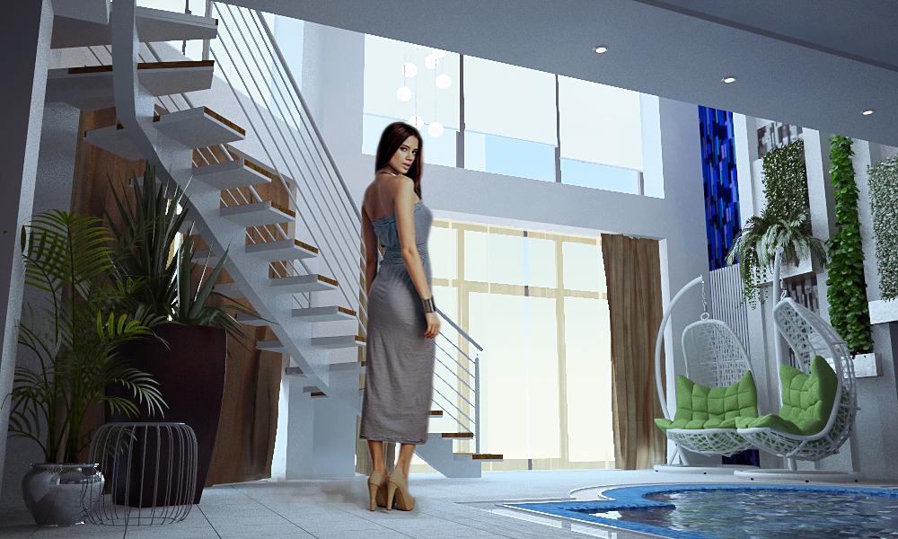 Дизайн проект бассейна в доме