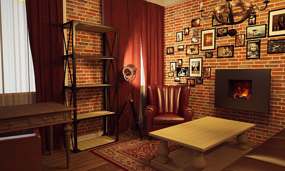 Дизайн-проект кабинета в частном доме