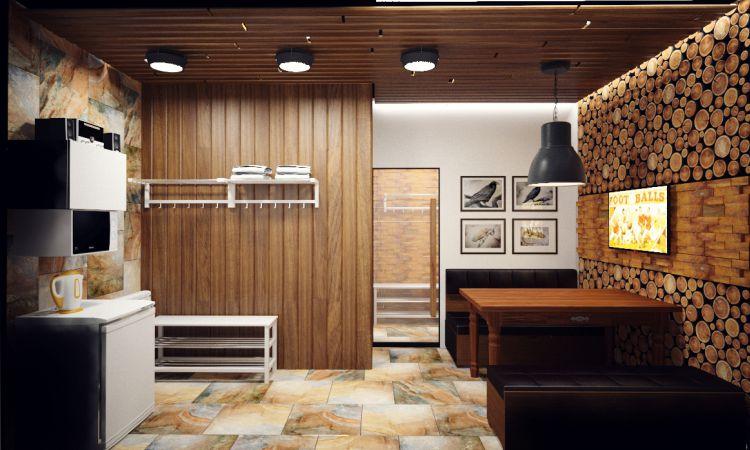 Дизайн проект комнаты отдыха