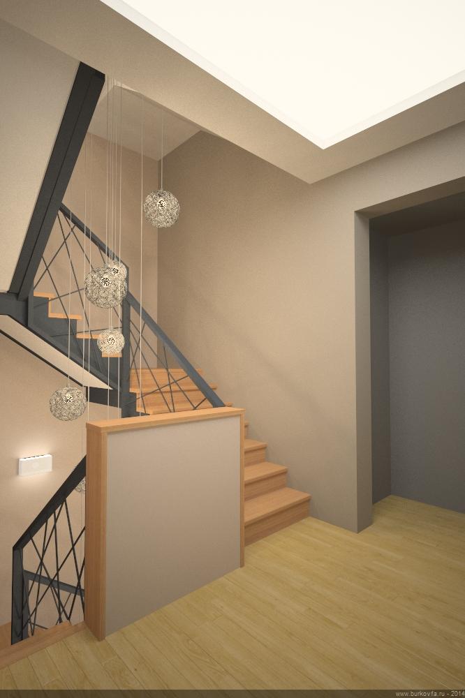 Дизайн лестницы вид со второго этажа