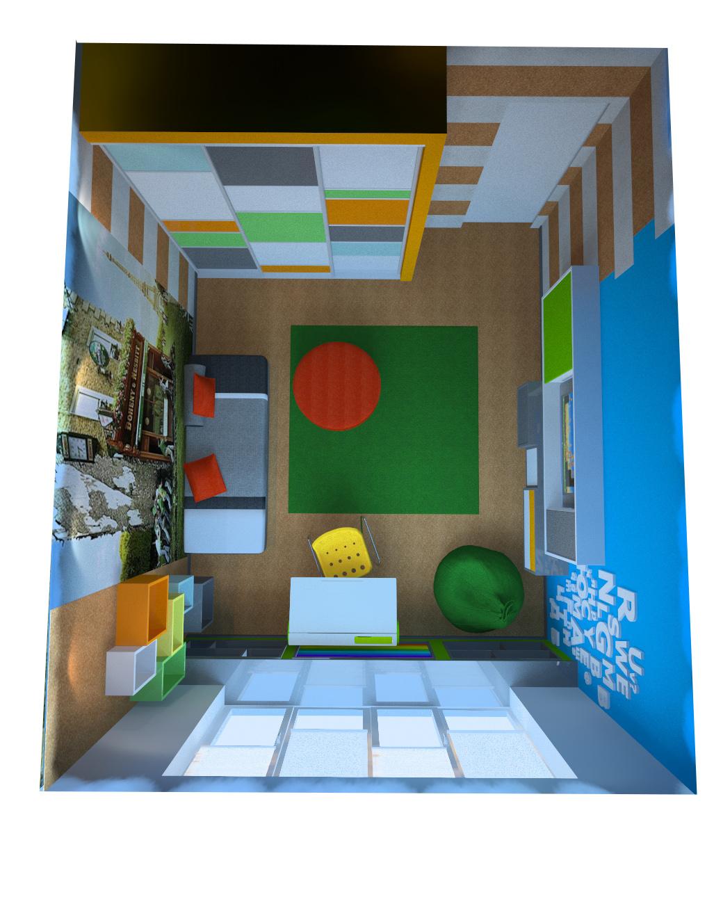 Дизайн проект детской для мальчика