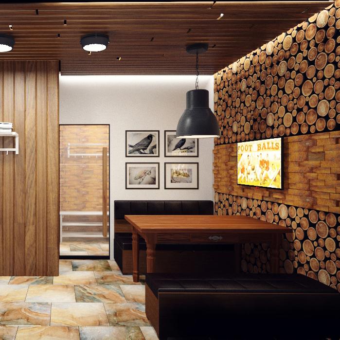 дизайн-проект комнаты отдыха в сауне