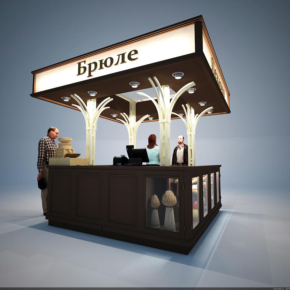 Дизайн торгового павильона