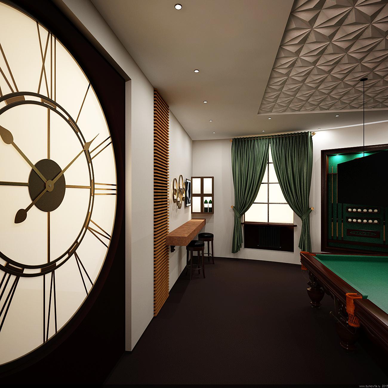 Бильярдная комната дизайн-проект