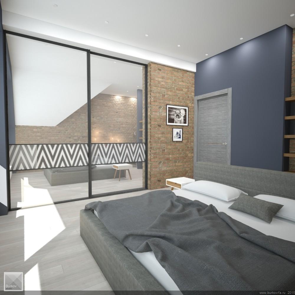 спальня в лофт стиле