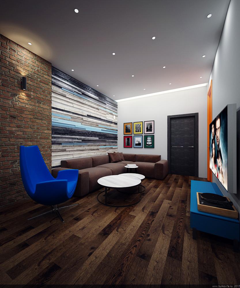 Интерьер квартиры в лофт стиле