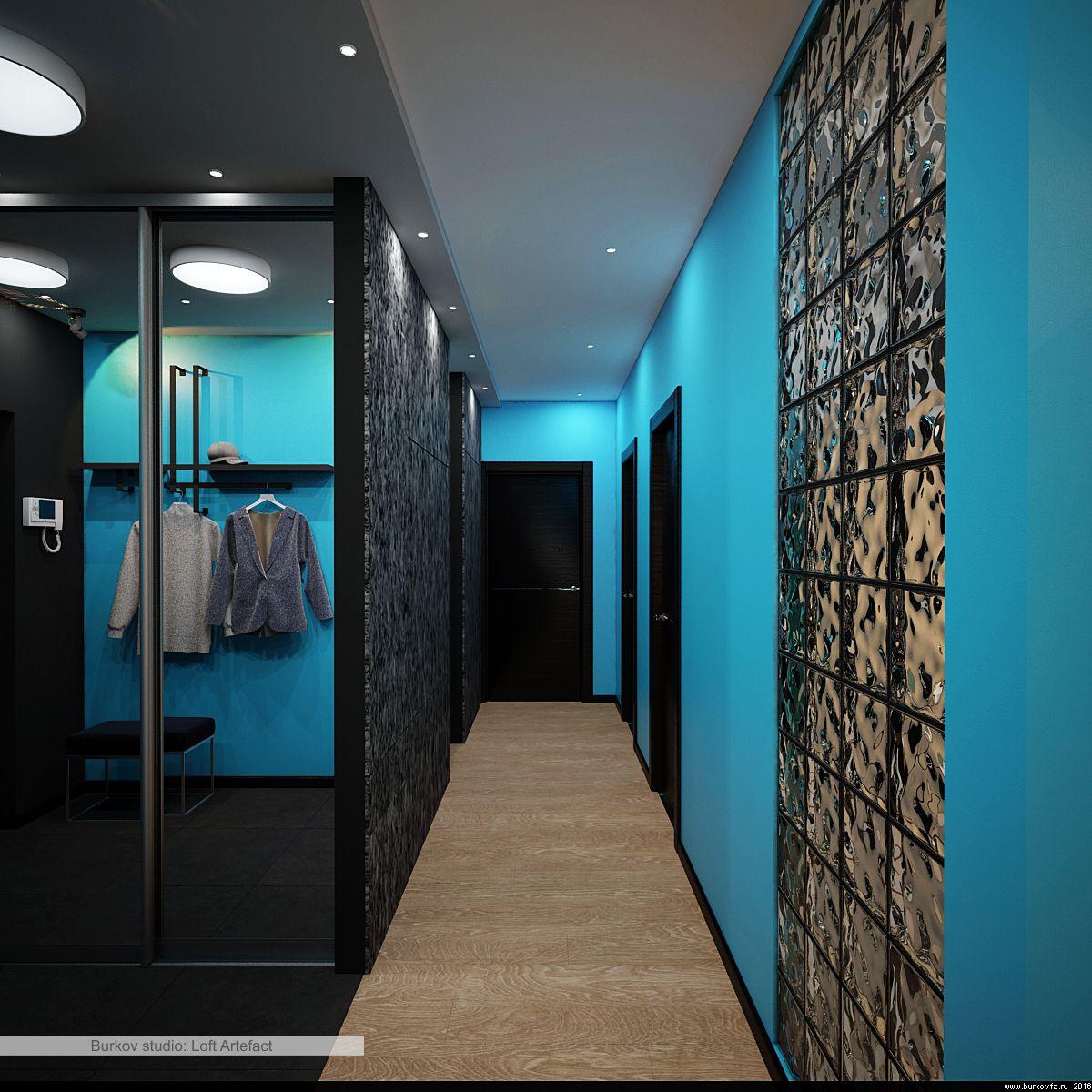 OSB на стене в лофт-стиле