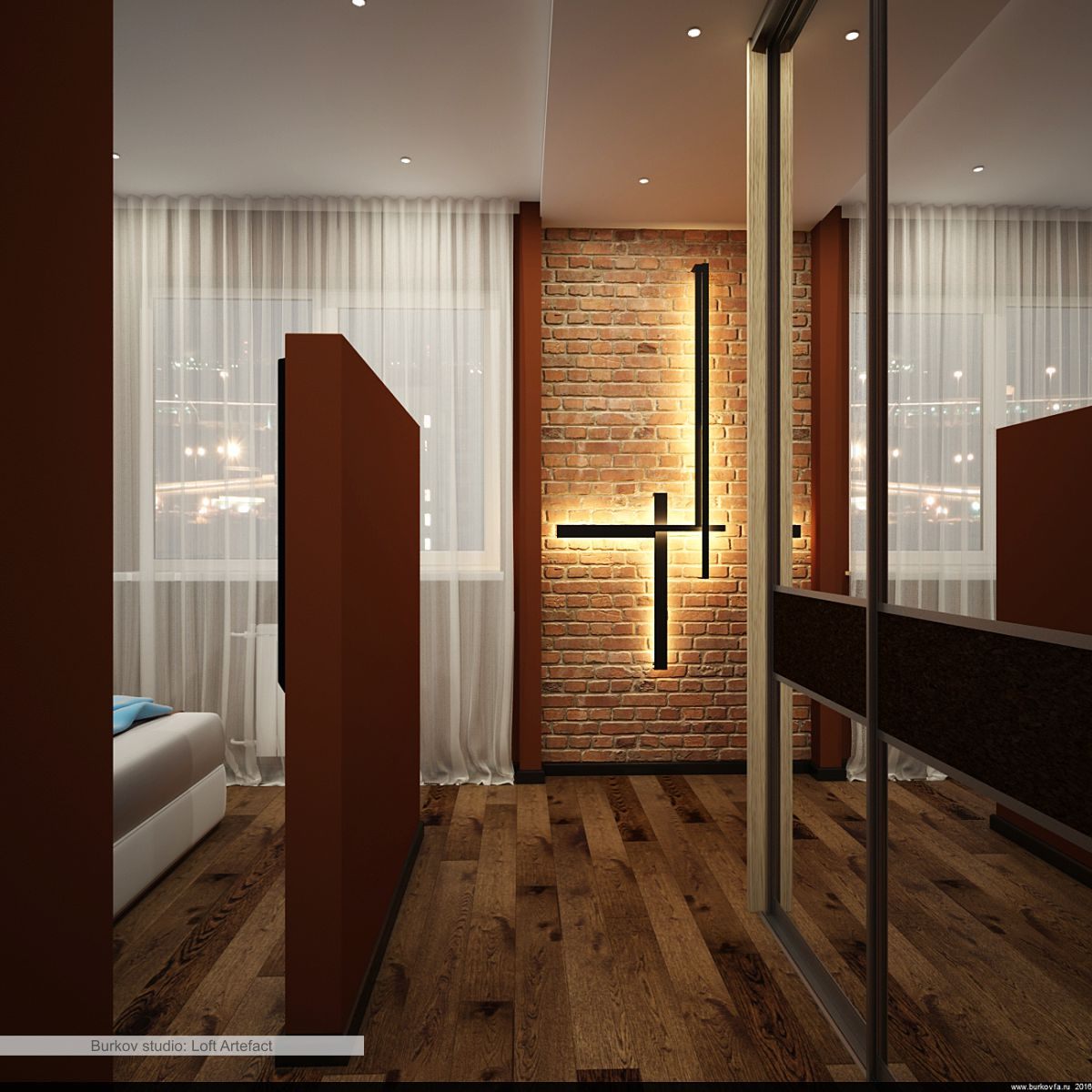 бра для спальни в лофт-стиле