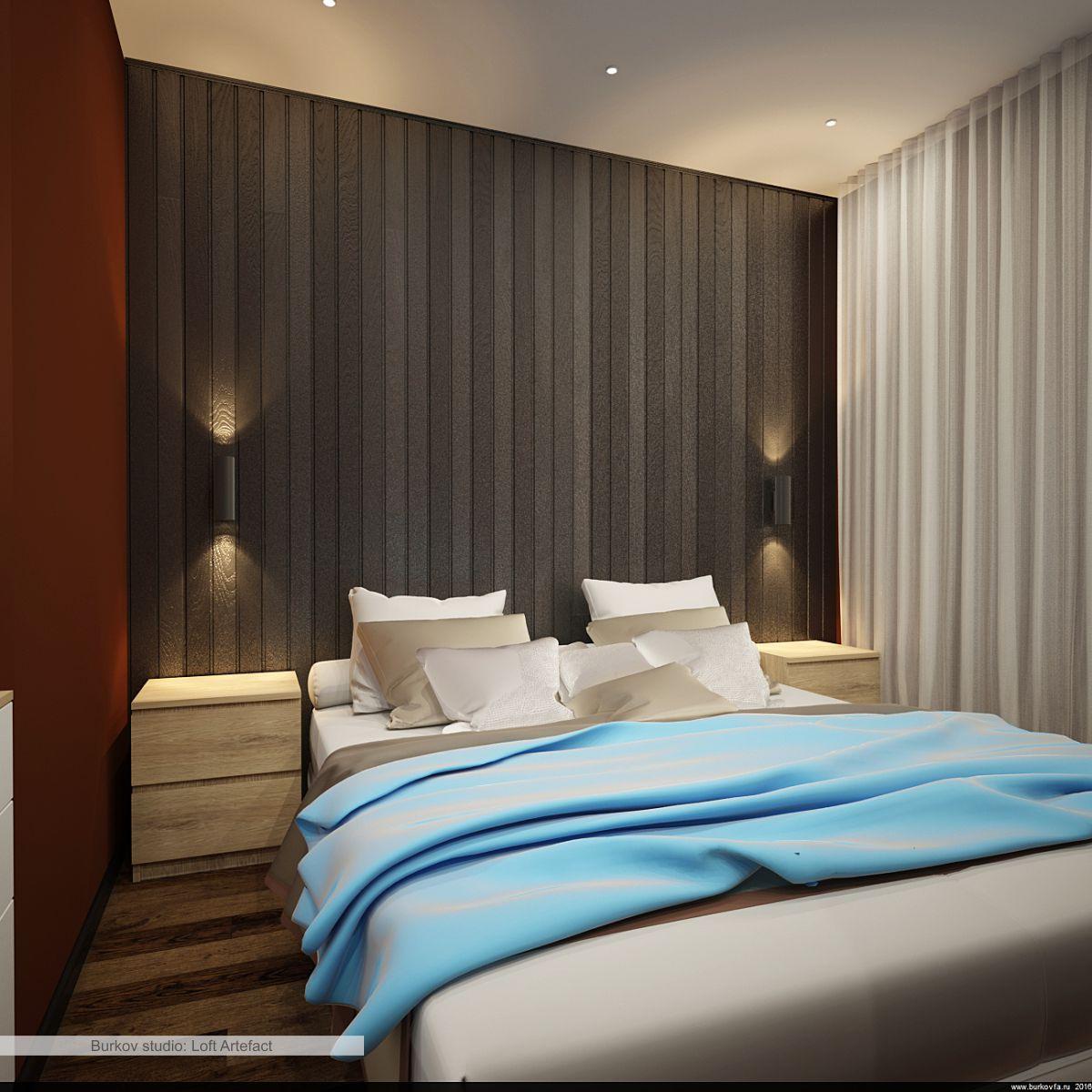 Оформление спальни в лофт стиле