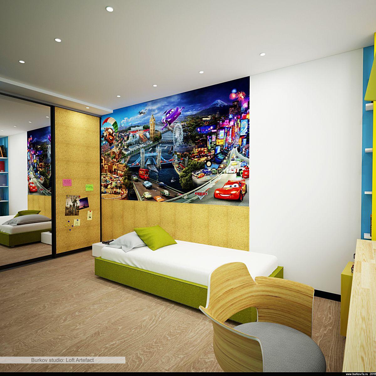 Детская комната в лофт квартире