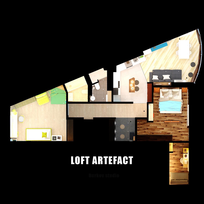 перепланировка квартиры в лофт стиле
