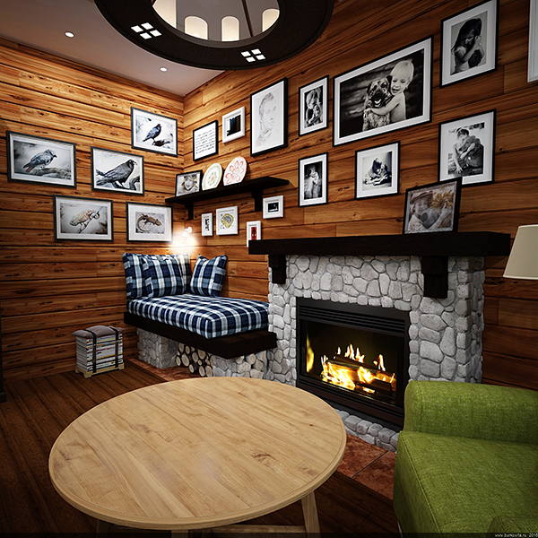 Дизайн проект квартиры студии в традиционном кантри стиле