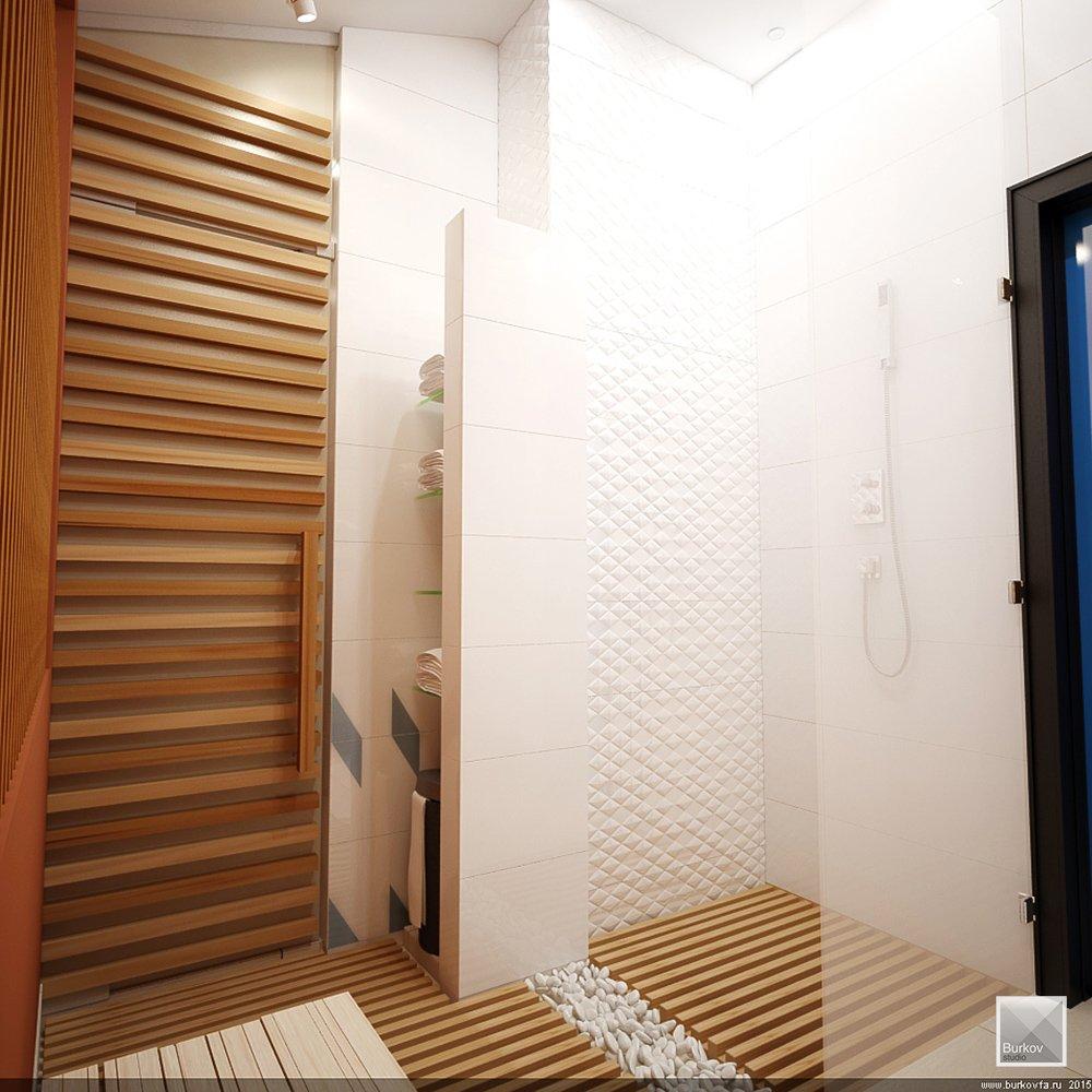 Встроенная душевая в бане