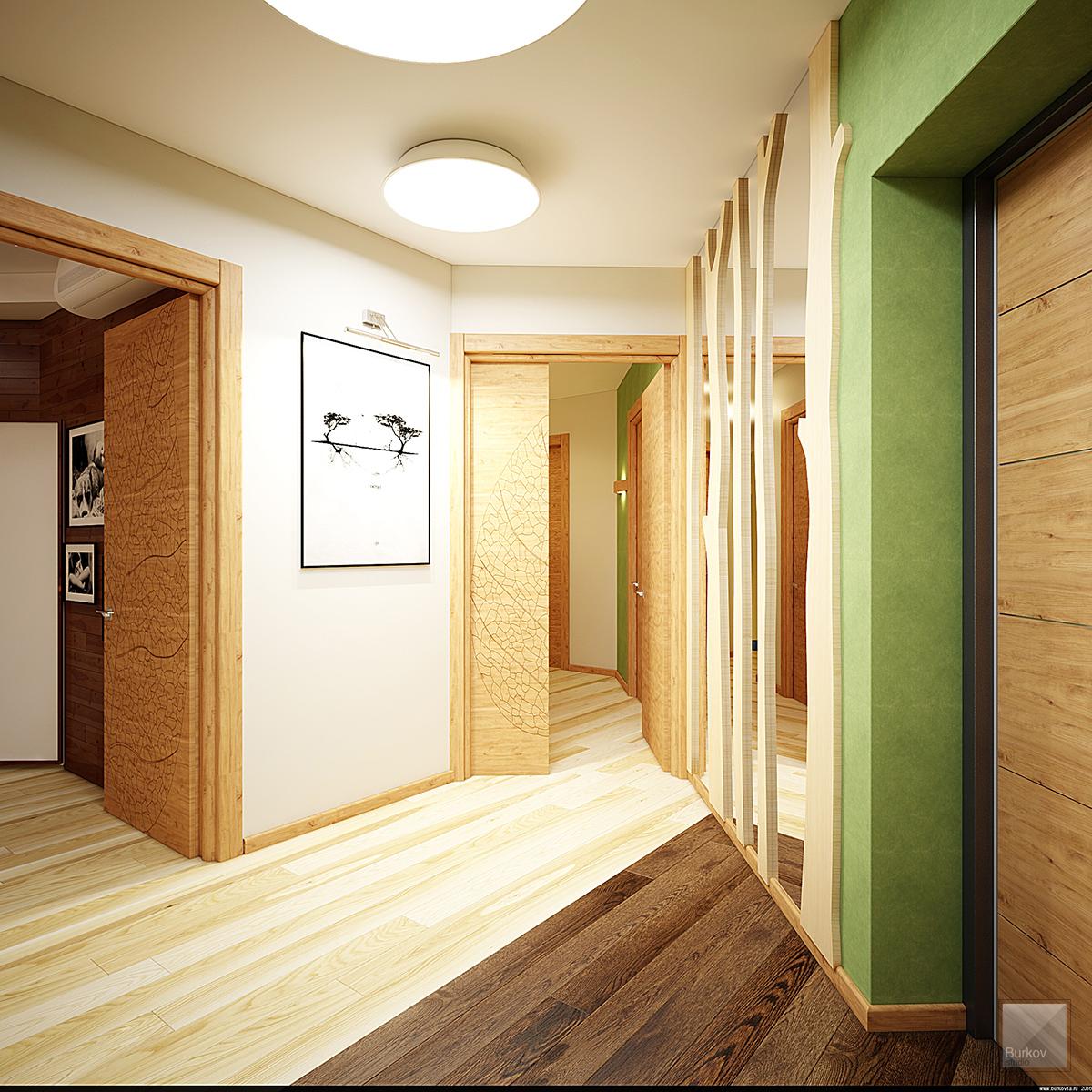 коридор в эко-стиле