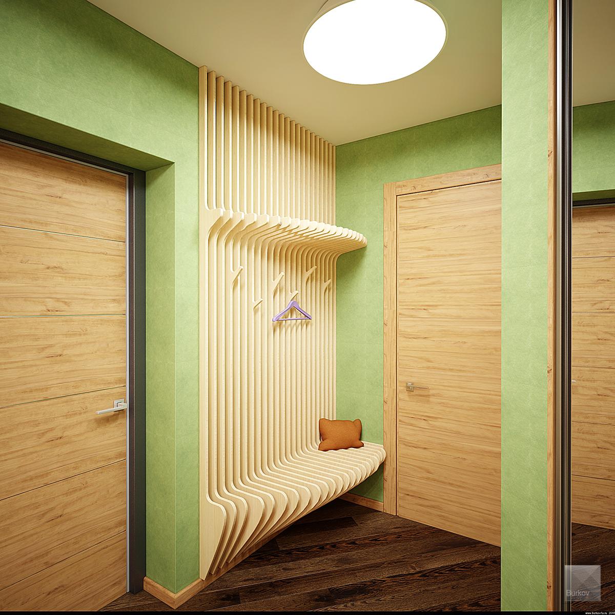 параметрическая вешалка для коридора