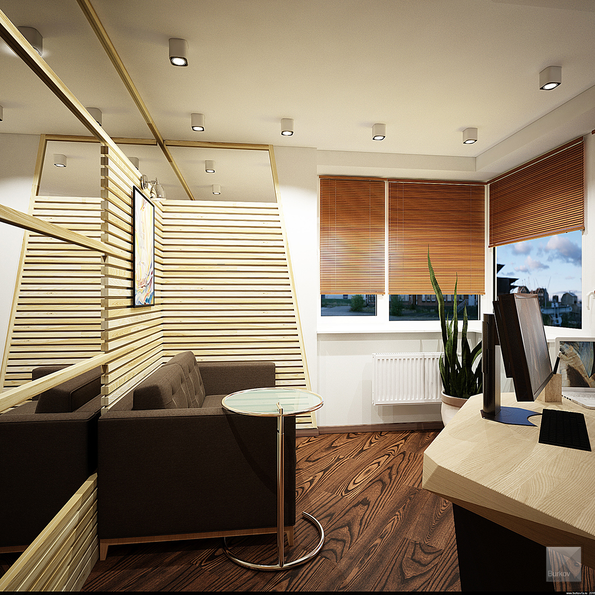 кабинет в эко-стиле