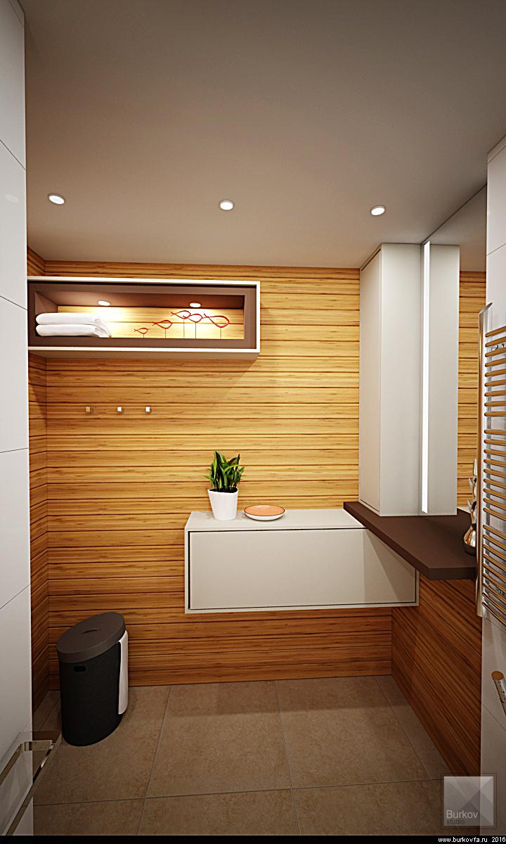 отделка стен деревом в ванной комнате