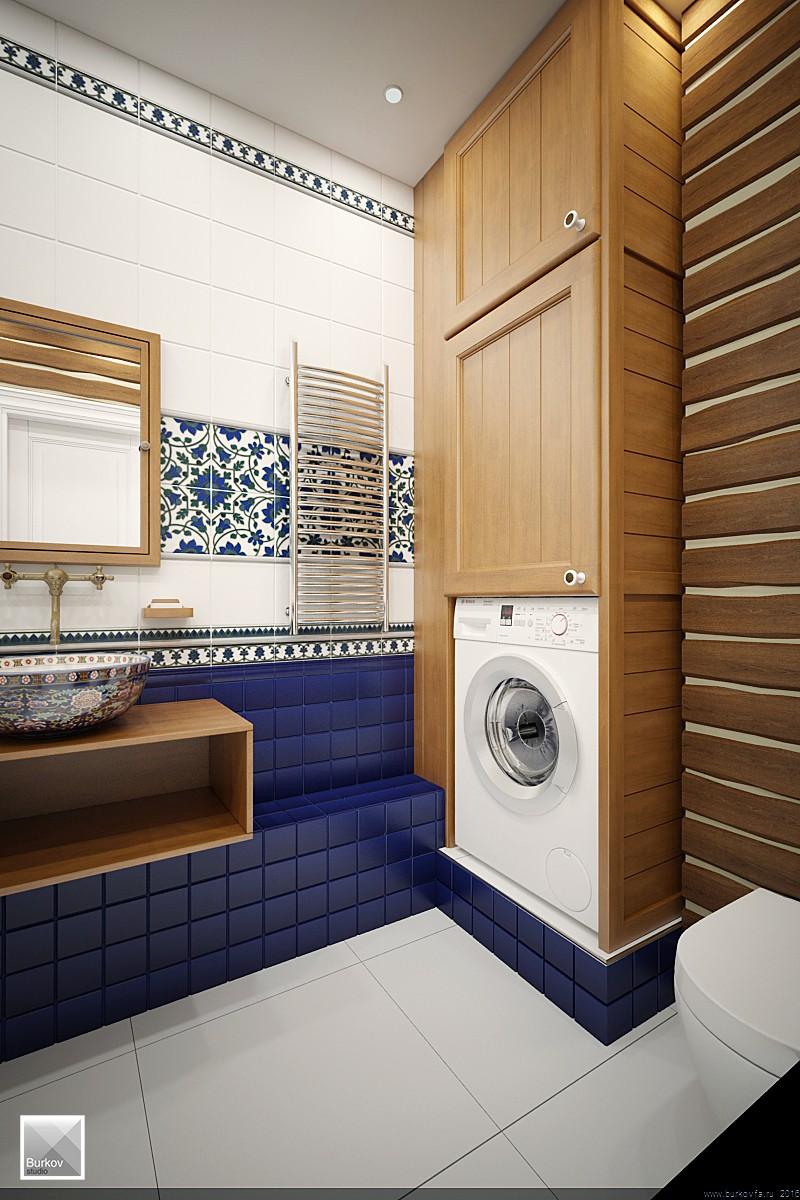 Дизайн ванной комнаты в кантри стиле