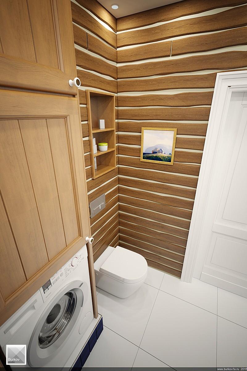Ванная в кантри стиле дизайн-проект